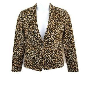 MICHAEL Michael Kors Animal Print Blazer Jacket